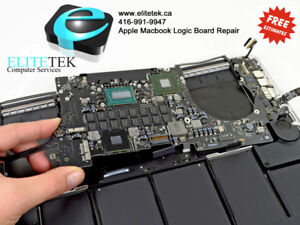 Apple Macbook Logic Board & Liquid Damaged Repair FREE EST