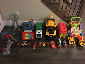 Large collection of toys for a toddler to preschooler