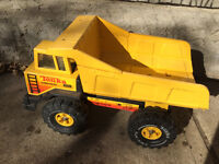 Classic Steel Tonka dump truck with drivers cab with windows