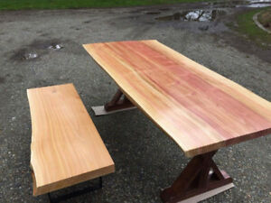 Live edge Patio / Backyard - Furniture