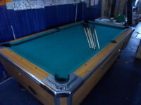 pool table, coin op bar type pool table