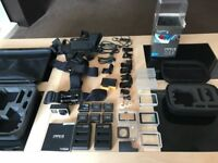 GoPro Hero 4 Silver with touchscreen with accessories immaculate condition