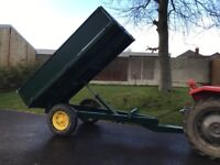 Tipping trailer with LED lights tractor horses stables