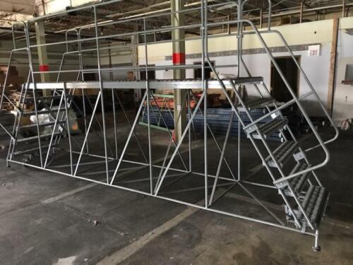 COTTERMAN 6DWP3672RA3B4CC1P6 Work Platform, Dual Access, Steel, 60 In H