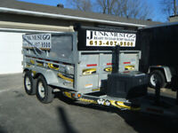 JUNK REMOVAL SERVICE-WASTE-GARBAGE+TRAILERS-PH-TEXT 613 407-9500