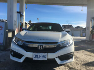2017 White Honda Civic Coupe LEASE TAKEOVER