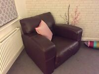 Pair (2) Of Mulberry Leather Armchairs