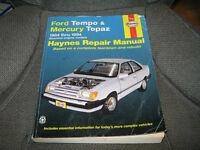 Haynes manuel de réparation pour Ford Tempo et Mercury topaz