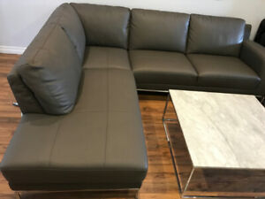 Structube Leather Couch