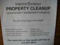 PROPERTY CLEAN UP/DUMP RUNS/HAULING/SCRAP REMOVAL