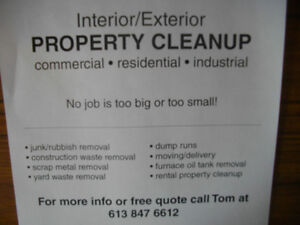PROPERTY CLEAN UP/DUMP RUNS/HAULING/SCRAP REMOVAL Belleville Belleville Area image 1