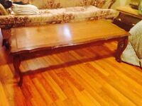 Vintage Solid Hardwood Coffee Table, Recently Refinished
