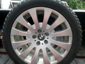 "CLEAN BMW 18"" INCH WHEELS / RIMS AND WINTER TIRES 245/45/18"