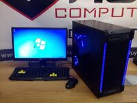 ULTRA QUICK NEW QUAD CORE FAST GAMING PC 8GB RAM 120GB SSD WIN 7 Wi-Fi FREE SAMEDAY DELIVERY
