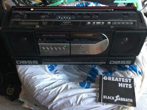 Toshiba RT-8097 Boombox CD Radio Cassette