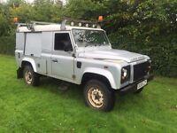 Land Rover defender 110 2.4tdci puma 08reg 6 speed no vat!!! 4x4