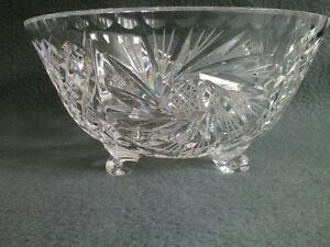 Collectible Antique Crystal Three Footed Bowl London Ontario image 9
