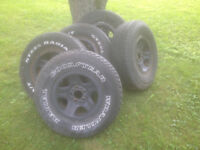5 Rally Wheels Jeep YJ 1992
