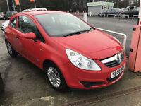 58 REG Vauxhall Corsa 1.0i 12v Life IN RED