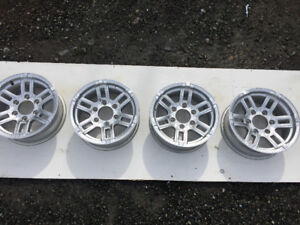 6 lug trailer aluminum wheels set of 4