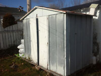 steel tool shed or nice shanty