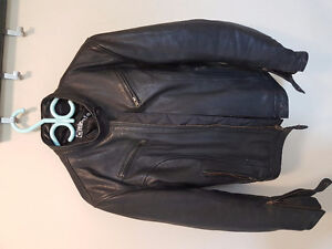 Womens leather motorcycke jacket