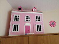 Girls pink dolls house £20