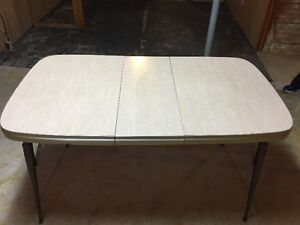 New Price. Metal Kitchen Table. About 70 years old