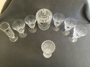 Collectible Antique Crystal Glasses, Bud Vases & Covered Dish London Ontario image 7
