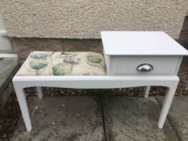 Hand painted telephone designer fabric seat