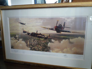 Lest We Forget by Adrian Rigby, signed by three BBMF pilots Kingston Kingston Area image 1