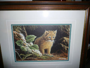 """Marc Barrie """"New World-Lynx Kitten"""" Limited Edition, Signed and"""