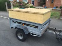 Larger Daxara 147 tipping trailer + high sides / lid (all removable)
