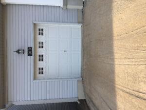 Steel insulated garage door White 8x7