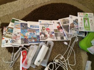 Wii set with games