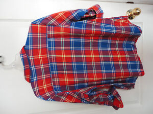 Women's Old Navy red plaid flannel dress shirt buttondown XL NWT London Ontario image 8