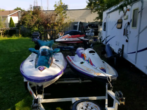 Selling 2 Tigershark skis and double trailer