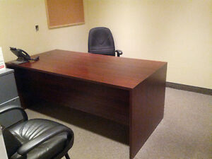 Large Sturdy Office Desk & Chair $300 obo