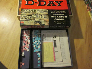 Avalon Hill Board Game D-DAY World War II Invasion Vintage WWII