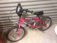 Bumper stunt rider 16 inch girls kids BMX bike
