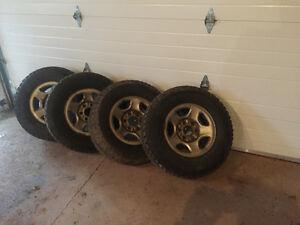 245 70 16 winter truck tires on rims