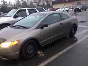 2007 honda civic grey COUPE