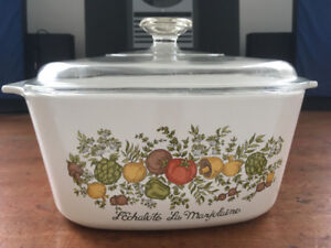 "Corning Ware, A-3-B, 3 litres, "" spice of life"", vintage"