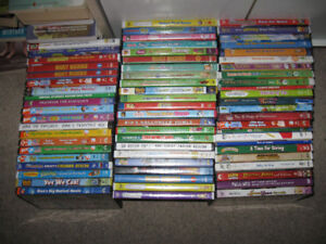 Tons of Kid Movies/Dvds-$5 or less each