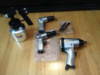 AIR PNEUMATIC TOOLS FOR COMPRESSOR NEW!! NEUF!! $25 EACH!!