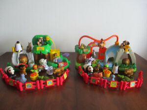 2 Zoo  Little  People Sonore  12 Figurines  $20Chaque