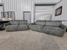 Grey fabric 3+2 seater sofas couches suite 🚚