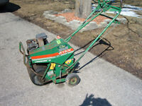 Aerating and rolling of lawns