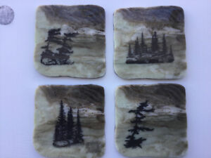 Hand Painted Rock Coasters For Sale