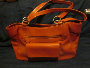 Coldwater Creek Red Leather Purse, new not used